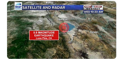 Lone Pine, Las Vegas Death Valley Earthquake Today ...